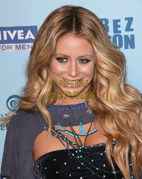 AUBREY O'DAY .attends Perez Hilton's Blue Ball held at Siren Studios in West Hollywood, California, March 26th 2011..portrait headshot grey gray make-up beauty turquoise blue crop bra cropped top top necklace cut out  .CAP/RKE/DVS.©DVS/RockinExposures/Capital Pictures.