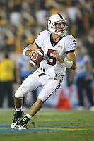 1 October 2006: Trent Edwards during Stanford's 31-0 loss to UCLA at the Rose Bowl in Pasadena, CA.