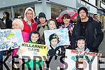 Alex O'Callaghan, Erin Moloney, Ryan Moloney and Adam Payne. Back row: Margaret O'Callaghan, Brian Moloney, Josie Moloney, Kerrie Moloney, Richard Payne Killarney at  the Right2Water protest in Killarney on Saturday