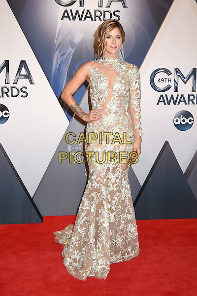 4 November 2015 - Nashville, Tennessee - Cassadee Pope. 49th CMA Awards, Country Music's Biggest Night, held at Bridgestone Arena. <br /> CAP/ADM/LF<br /> &copy;LF/ADM/Capital Pictures
