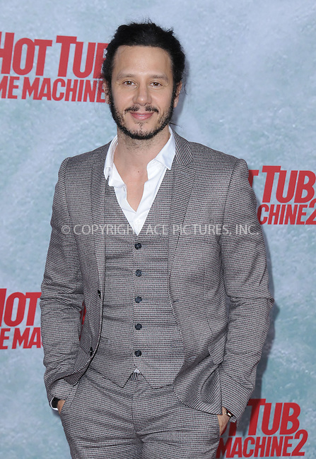 WWW.ACEPIXS.COM<br /> <br /> February 18 2015, LA<br /> <br /> Andrew Panay at the premiere of Paramount Pictures' 'Hot Tub Time Machine 2' at the Regency Village Theatre on February 18, 2015 in Westwood, California.<br /> <br /> <br /> By Line: Peter West/ACE Pictures<br /> <br /> <br /> ACE Pictures, Inc.<br /> tel: 646 769 0430<br /> Email: info@acepixs.com<br /> www.acepixs.com