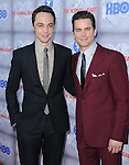 Jim Parsons and Matt Bomer attends The HBO L.A. Premiere of The Normal Heart held at The WGA in Beverly Hills, California on May 19,2014                                                                               © 2014 Hollywood Press Agency