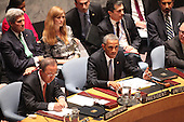 United States President Barack Obama makes remarks as United Nations Secretary-General Ban Ki-moon takes notes at the U.N. Security Council summit cracking down on foreign terrorist fighters at the U.N. 69th General Assembly in New York, New York on Wednesday, September 24, 2014.  Visible in the photo are also U.S. Secretary of State John F. Kerry and U.S. Ambassador to the U.N. Samantha Power.<br /> Credit: Allan Tannenbaum / Pool via CNP