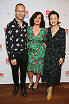 """James Hillier, Lucy Cohu and Amanda Drew during the Broadway Opening Night After Party for the MTC  production of  """"The Height Of The Storm"""" at the Copacabana on September 24, 2019 in New York City."""