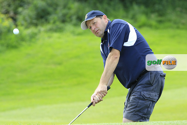 Colin Dawson (Castlebar) during the final of the AIG Jimmy Bruen Shield Connacht Final, in Galway Bay Golf Club, Galway, Ireland. 12/08/2017<br /> Picture: Fran Caffrey / Golffile
