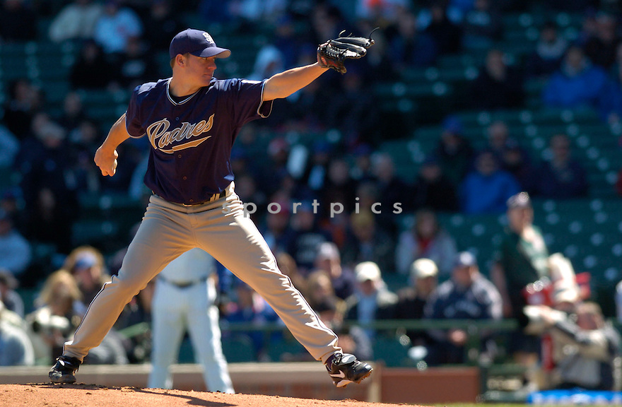 Jake Peavy in action during the San Diego Padres v. Chicago Cubs game April 13, 2005.....San Diego Padres won 8-3.....David Durochik/ SportPics