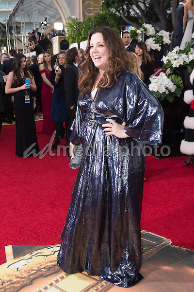 Actress Melissa McCarthy attends the 73rd Annual Golden Globes Awards at the Beverly Hilton in Beverly Hills, CA on Sunday, January 10, 2016. Photo Credit: HFPA/AdMedia