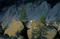 Bouldering on Montenvers, Chamonix, France, 1999