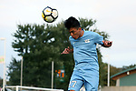 CARY, NC - SEPTEMBER 29: UNC's Mark Salas. The University of North Carolina Tar Heels hosted the North Carolina State University Wolfpack on September 29, 2017 at Koka Booth Field at WakeMed Soccer Park in Cary, NC in a Division I college soccer game.