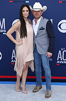 07 April 2019 - Las Vegas, NV - Justin Moore, Kate Moore. 54th Annual ACM Awards Arrivals at MGM Grand Garden Arena. Photo Credit: MJT/AdMedia<br /> CAP/ADM/MJT<br /> &copy; MJT/ADM/Capital Pictures