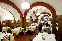 Interno del ristorante Montegrappa da Nello a Bologna.<br /> Interior of the restaurant Montegrappa da Nello in Bologna.<br /> UPDATE IMAGES PRESS/Riccardo De Luca