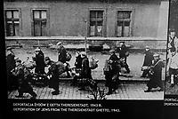 Auschwitz / Poland 2011.Auschwitz I Nazi extermination camp..Photographs in Auschwitz Museum. In the picture deportation of the Jews from Theresienestadt ghetto in 1943..Photo Livio Senigalliesi