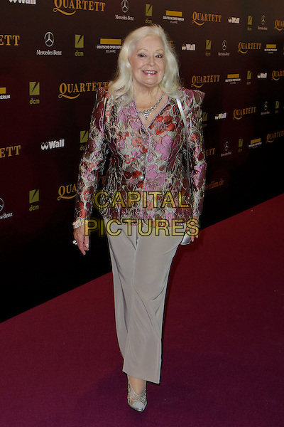 "Gwyneth Jones .Premiere of ""Quartet"" in the German Opera Berlin, Germany..January 20th, 2013.full length trousers pink silver print blazer grey gray .CAP/UNT.©Unit2/Capital Pictures"