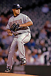 8 September 2006: Tony Armas Jr., pitcher for the Washington Nationals, in action against the Colorado Rockies. The Rockies defeated the Nationals 11-8 at Coors Field in Denver, Colorado...Mandatory Photo Credit: Ed Wolfstein.