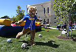 Willy plays games with students during a student BBQ and club fair at Western Nevada College in Carson City, Nev., on Thursday, Sept. 1, 2016. <br />Photo by Cathleen Allison