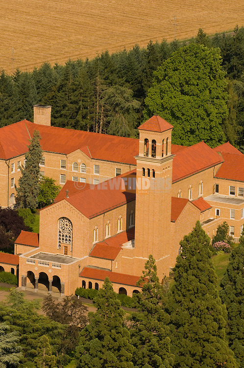 Aerial View of Mt. Angel Abbey, St. Benedict, Oregon