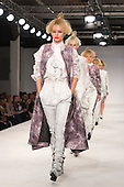 Collection by Karle Errazti De Miguel of Istituto Marangoni. Graduate Fashion Week 2014, Runway Show at the Old Truman Brewery in London, United Kingdom. Photo credit: Bettina Strenske