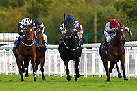 Winner of The Bathwick Tyres Conditions Stakes, Mr Top Hat left ridden by Jim Crowley and trained by David Evans during Afternoon Racing at Salisbury Racecourse on 4th October 2017