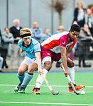 ALMERE - Hockey - Hoofdklasse competitie heren. ALMERE-HGC (0-1) . Terrance Pieters (Almere) met links Thijmen Piket (HGC) .    COPYRIGHT KOEN SUYK