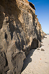 Soft rapidly eroding cliffs at Happisburgh, Norfolk, England
