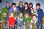 Getting into the Christmas Spirit at the Killorglin Christmas bazaar in Killorglin CYMS in front row l-r: Holly Richardson, Gary Doona, Ellie Memery, Kerry Richardson. Back row: Patrick Doona, helen Foley, Adrian Richardson, Michelle Sheehan, Kay O'Sullivan and Bridget Richardson