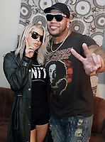 ALPHARETTA, GA - OCTOBER 27: Fergie and Flo Rida backstage at Q100's Q-Topia in Alpharetta, Georgia on October 27, 2017. Credit: Walik Goshorn/MediaPunch /NortePhoto.com