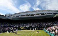 Wimbledon, 4/07/2014<br /> <br /> Semifinal FEDERER, Roger (SUI) defeated RAONIC, Milos (CAN) 6-4 6-4 6-4<br /> <br /> <br /> &copy; Ray Giubilo/ Tennis Photo Network