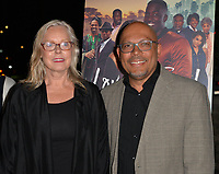 LOS ANGELES, CA- FEB. 08: Rob Adetuyi, Linda Eskeland at the 2018 Pan African Film & Arts Festival at the Cinemark Baldwin Hills 15 in Los Angeles, California on Feburary 8, 2018 Credit: Koi Sojer/ Snap'N U Photos / Media Punch