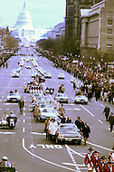 President Richard Nixon Inaugural Parade January 20, 1973 - A break in at the Democratic National Committee headquarters at the Watergate complex on June 17, 1972 results in one of the biggest political scandals the US government has ever seen.  Effects of the scandal ultimately led to the resignation of  President Richard Nixon, on August 9, 1974, the first and only resignation of any U.S. President.