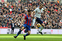 Harry Kane of Tottenham Hotspur and Joel Ward of Crystal Palace during Tottenham Hotspur vs Crystal Palace, Premier League Football at Wembley Stadium on 5th November 2017