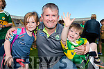 Kerry Fans at the Kerry v Kildare championship clash on Saturday evening at Fitzgerald stadium, from left: Isabelle, Denis and Darragh Carey (Glenflesk).