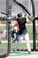 Gordon Beckham #15 of the Chicago White Sox participates in spring training workouts at the White Sox training facility on February 24, 2011  in Glendale, Arizona. .Photo by:  Bill Mitchell/Four Seam Images.