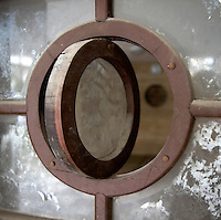 A porthole type window in Yaakov Hanoch House, a Bauhaus style building, at 10 Aharonovizh Street. It was built in 1937 by architects Richard Barzilai and Shmuel Haussmann. Tel Aviv is known as the White City in reference to its collection of 4,000 Bauhaus style buildings, the largest number in any city in the world. In 2003 the Bauhaus neighbourhoods of Tel Aviv were placed on the UNESCO World Heritage List. .