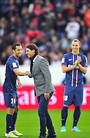 NENE / Rafael NADAL / Zlatan IBRAHIMOVIC - donne le coup d Envoi - 20.10.2012 - PSG / Reims - 9eme journee de Ligue 1 - Photo : Amandine Noel / Icon Sport
