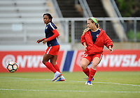 Boyds, MD - Saturday May 6, 2017: Francisca Ordega, Crystal Thomas prior to a regular season National Women's Soccer League (NWSL) match between the Washington Spirit and Sky Blue FC at Maureen Hendricks Field, Maryland SoccerPlex.