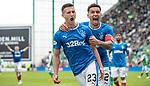 13.05.2018 Hibs v Rangers: Jason Holt celebrates with James Tavernier