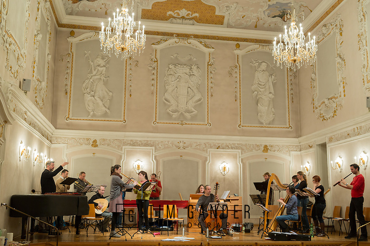 "December 2015, rehearsals and concert performance of the Kapsberger ""Die Hirten zu Bethlehem"" performed by Ensemble Vivante Marini Consort in Salzlager in Hall, Tirol, Austria."