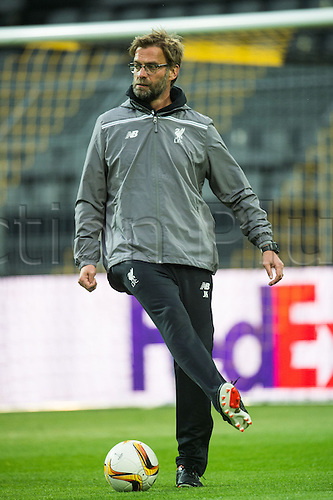 06.04.2016. Dortmund, Germany.  Liverpool's head coach Juergen Klopp oversees a training session at Signal Iduna Park in Dortmund, Germany. Liverpool will face Borussia Dortmund in an UEFA Europa League quarter final first leg soccer match on April 7th.