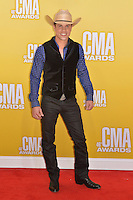 NASHVILLE, TN - NOVEMBER 1: Dustin Lynch on the Macy's Red Carpet at the 46th Annual CMA Awards at the Bridgestone Arena in Nashville, TN on Nov. 1, 2012. © mpi99/MediaPunch Inc. /NortePhoto .<br />