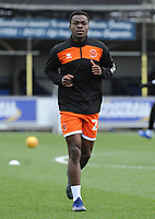 Blackpool's Marc Bola during the pre-match warm-up <br /> <br /> Photographer Kevin Barnes/CameraSport<br /> <br /> The EFL Sky Bet League One - AFC Wimbledon v Blackpool - Saturday 29th December 2018 - Kingsmeadow Stadium - London<br /> <br /> World Copyright &copy; 2018 CameraSport. All rights reserved. 43 Linden Ave. Countesthorpe. Leicester. England. LE8 5PG - Tel: +44 (0) 116 277 4147 - admin@camerasport.com - www.camerasport.com