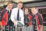 Patrick Eviston, Eviston House Hotel, Killarney, pictured with Broghan Edmonds, Conor Delves and Shane Courtney, Killarney rugby club, as they announced his sponsorship of the U15 team in Killarney on Thursday...............................................Christy O'Mahony, captain Beaufort Golf club and Irene McCarthy, Lady Captain Beaufort Golf Club pictured with James Lucey and Sheila McCarthy, who were the winners in their Captain Prize Competition at the course on Sunday. Also pictured are Frank Coffey, President, Sean Coffey, vice captain, Teresa Clifford, Margaret Guerin, Josephine O'Shea, Gretta Hurley, Renee Clifford, Peggy O'Riordan, Maureen Rooney, Mary Barrett, Robin Suter, Gearoid Keating, Jim Hurley, Gabhan O'Loughlin, Rory Browne, Mike Quirke, Matt Templeman and Simon Rainsford...Picture: Ger Cronin LMPA (087) 0522010....PR SHOT..NO REPRODUCTION FEE.............................................................................................................................................................................................................................................