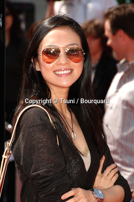 Ziyi Zhang arriving at the OVER THE HEDGE Premiere at the Westwood Theatre  in Los Angeles. April 30,  2006.