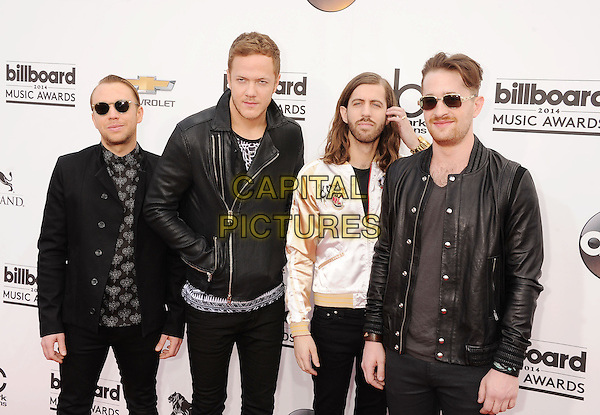 LAS VEGAS, CA- MAY 18: Ben McKee; Dan Reynolds; Wayne Sermon; Daniel Platzman arrives at the 2014 Billboard Music Awards at the MGM Grand Garden Arena on May 18, 2014 in Las Vegas, Nevada.<br /> CAP/ROT/TM<br /> &copy;TM/Roth Stock/Capital Pictures