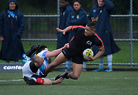 Action from the 2018 Hurricanes Secondary Schools Under-15 Boys' Rugby Tournament match between St Patrick's College Silverstream and Manukura College at Maidstone Park in Wellington, New Zealand on Wednesday, 5 September 2018. Photo: Dave Lintott / lintottphoto.co.nz