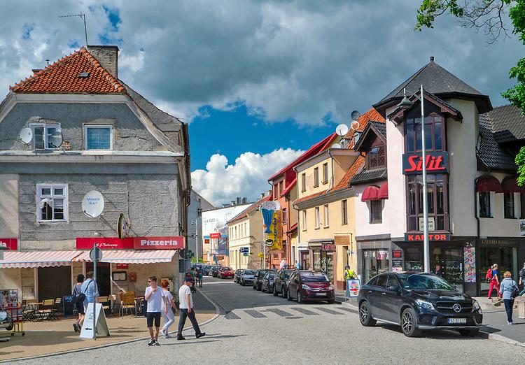 Mikołajki, żeglarska stolica Polski. Centrum miasta.
