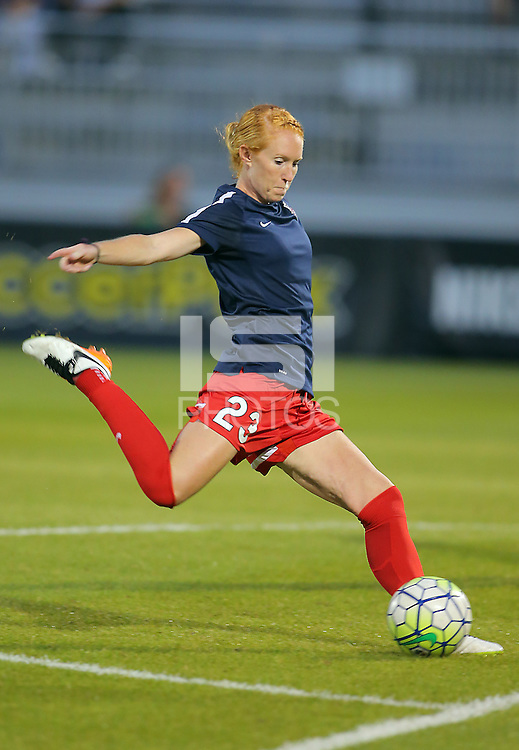 Boyds, MD - Wednesday Sept. 07, 2016: Victoria Huster during a regular season National Women's Soccer League (NWSL) match between the Washington Spirit and the Seattle Reign FC at Maureen Hendricks Field, Maryland SoccerPlex.