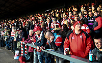 4th January 2020; Kingsholm Stadium, Gloucester, Gloucestershire, England; English Premiership Rugby, Gloucester versus Bath; Gloucester fans in The Shed anticipate kick off - Editorial Use