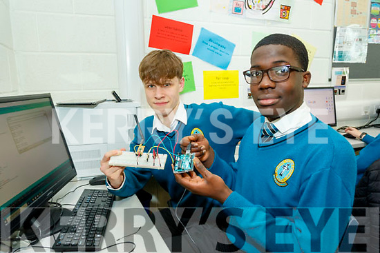 Students of Mount Hawk secondary school, Tralee, Patrick Nolan and Samuel Abubakar working on their project CANSAT, last Friday morning, organised in conjunction with IT Tralee and funded by Science Foundation of Ireland.
