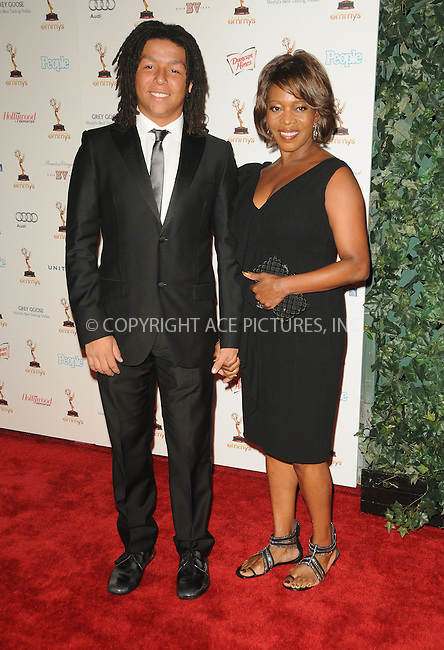 WWW.ACEPIXS.COM . . . . .  ....September 16 2011, LA.... Actress Alfre Woodard (R) and son Duncan Spencer arriving at the 63rd Annual Emmy Awards Performers Nominee Reception held at Pacific Design Center on September 16, 2011 in West Hollywood, California. ....Please byline: PETER WEST - ACE PICTURES.... *** ***..Ace Pictures, Inc:  ..Philip Vaughan (212) 243-8787 or (646) 679 0430..e-mail: info@acepixs.com..web: http://www.acepixs.com