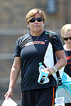 16 May 2015: Princeton head coach Chris Sailer. The Duke University Blue Devils hosted the Princeton University Tigers at Koskinen Stadium in Durham, North Carolina in a 2015 NCAA Division I Women's Lacrosse Tournament quarterfinal match. Duke won the game 7-3.
